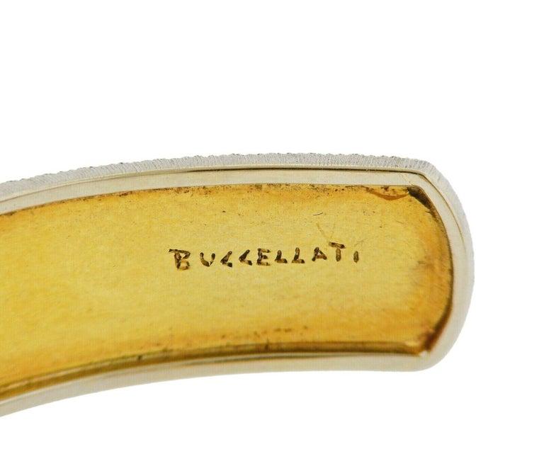 Buccellati Gold Diamond Cuff Bracelet For Sale 1