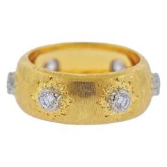 Buccellati Gold Diamond Ring