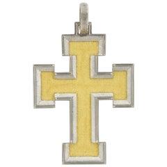 Buccellati Gold Large Cross Pendant