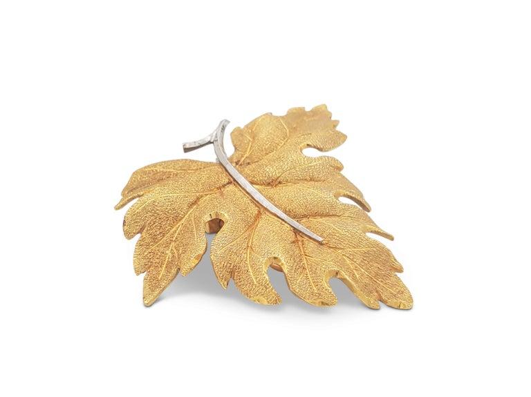 Buccellati Gold Leaf Earrings For Sale 1