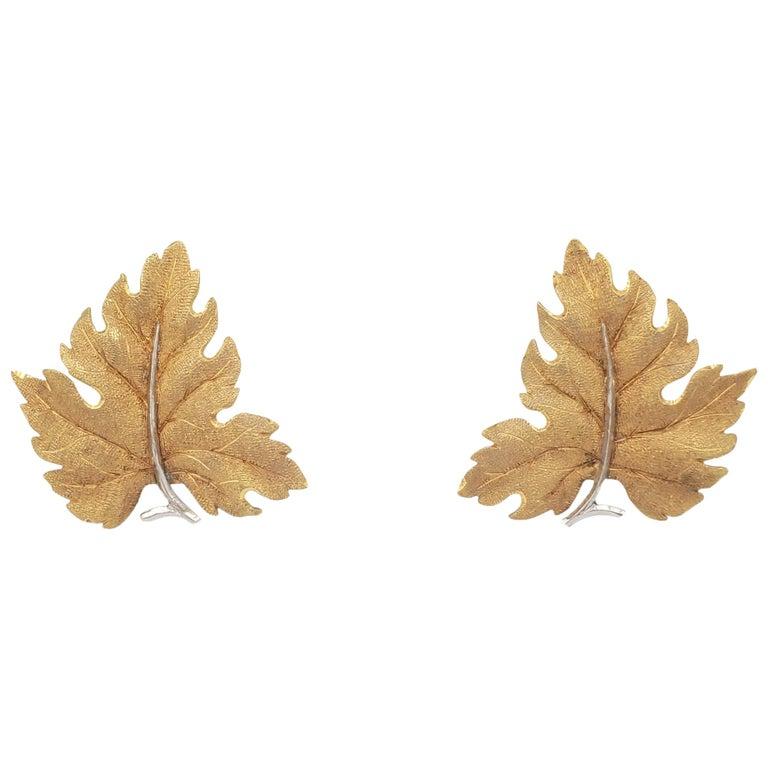 Buccellati Gold Leaf Earrings For Sale