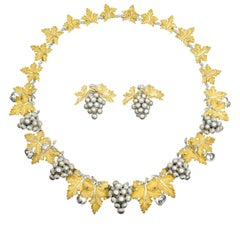Buccellati Gold Necklace and Earrings Set
