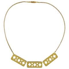 Buccellati Gold Razor Blade Pendant Necklace