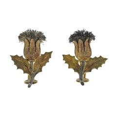 Buccellati Gold Silver Thistle Earrings