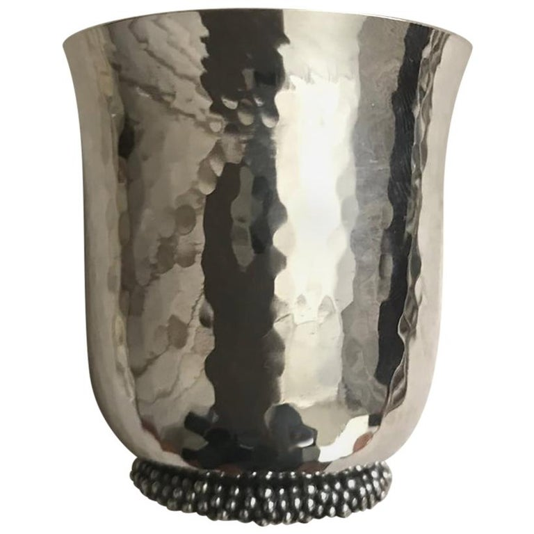 Buccellati Handmade Sterling Silver Drinks Cup For Sale