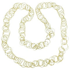 Buccellati Hawaii Gold Link Long Necklace