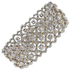 Buccellati Important 19 Carat Diamonds Gold Bracelet