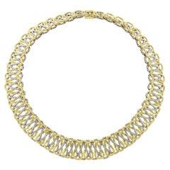 Buccellati Interwoven Two-Color Gold Collar Necklace