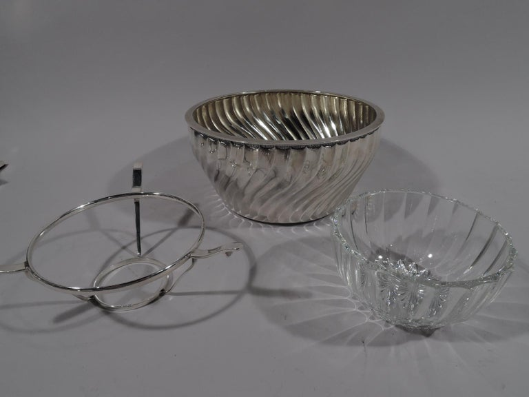 Modern Buccellati Italian Classical Sterling Silver Caviar Bowl For Sale