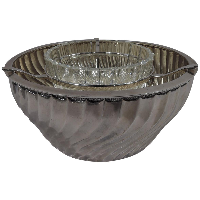 Buccellati Italian Classical Sterling Silver Caviar Bowl