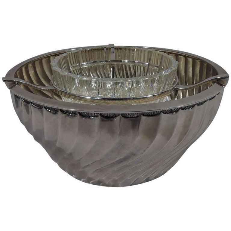 Buccellati Italian Classical Sterling Silver Caviar Bowl For Sale