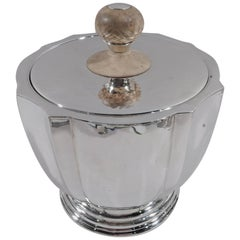 Buccellati Italian Modern Hand-Hammered Sterling Silver Ice Bucket