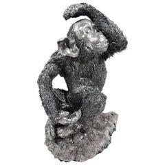 Buccellati Italian Silver Chimpanzee Figure