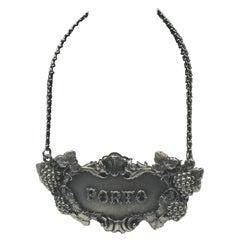 Buccellati Italian Sterling Silver Berry Porto Claret Jug Label