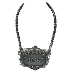 Buccellati Italian Sterling Silver Cognac Claret Jug Label