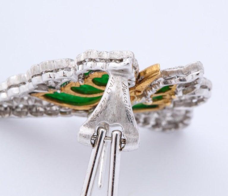 Buccellati Jade Diamond Butterfly Earclips For Sale 8