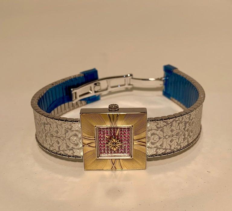 Buccellati Ladies Watch Milano Dal 1919 Agalma Damasco Agalmachron Ruby 18K Gold For Sale 4