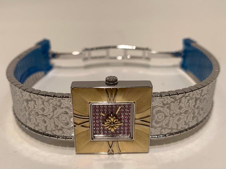 Buccellati Ladies Watch Milano Dal 1919 Agalma Damasco Agalmachron Ruby 18K Gold For Sale 6