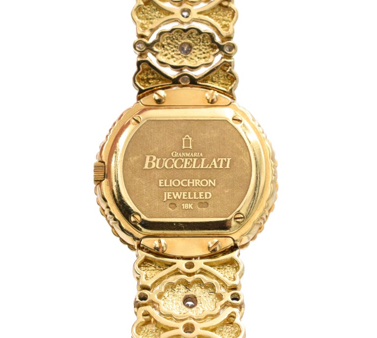 Artist Buccellati Ladies Gold and Diamond Watch For Sale