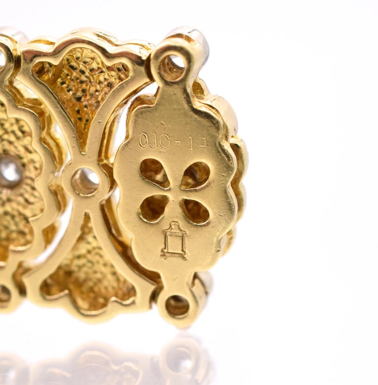 Round Cut Buccellati Ladies Gold and Diamond Watch For Sale