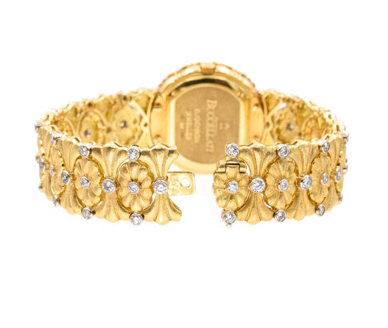 Buccellati Ladies Gold and Diamond Watch In Excellent Condition For Sale In New York, NY