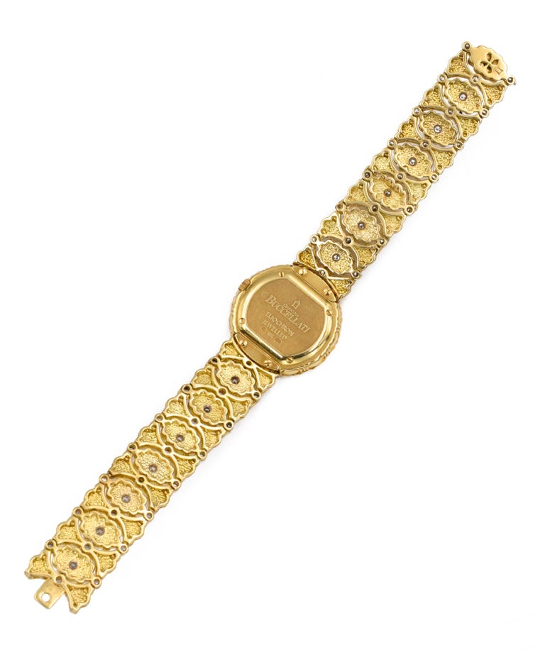 Women's Buccellati Ladies Gold and Diamond Watch For Sale