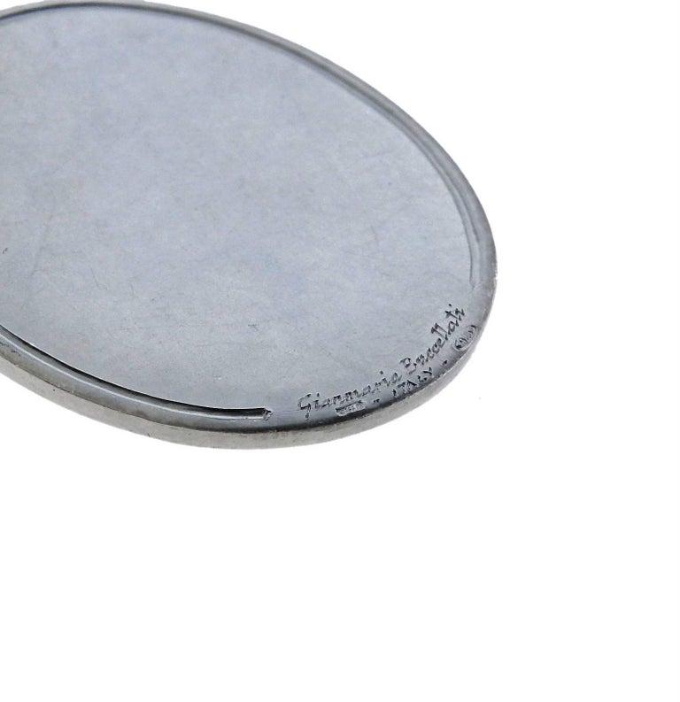 Women's or Men's Buccellati Large Zodiac Cancer Gold Silver Pendant For Sale