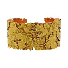Buccellati Leaf Gold Cuff Bracelet
