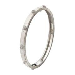 Buccellati Macri 18 Karat White Gold Bracelet with Diamonds