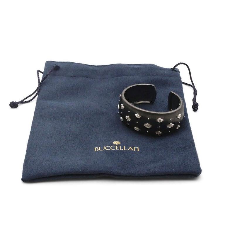 Women's or Men's Buccellati 'Macri AB' Black Gold and Diamond Bracelet For Sale