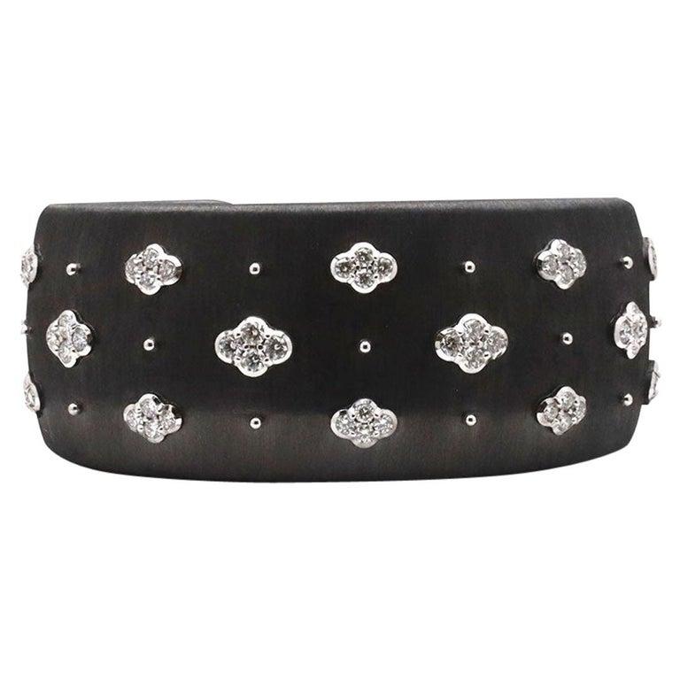 Buccellati 'Macri AB' Black Gold and Diamond Bracelet For Sale