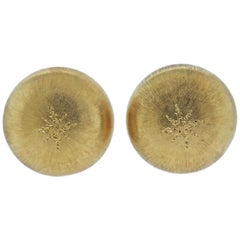 Buccellati Macri Large Gold Button Earrings