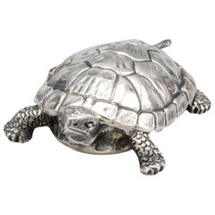 Buccellati Midcentury Sterling Silver Turtle Box