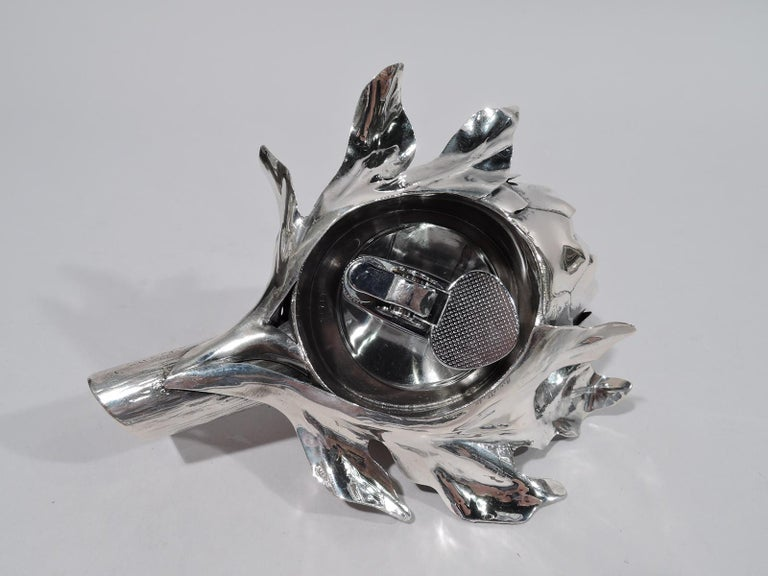 Italian Buccellati Modern Silver Figural Vegetable Artichoke Lighter For Sale