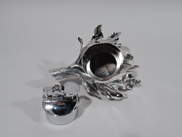 Buccellati Modern Silver Figural Vegetable Artichoke Lighter In Excellent Condition For Sale In New York, NY