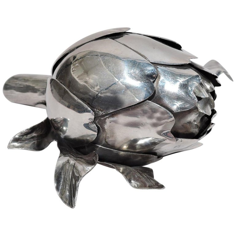 Buccellati Modern Silver Figural Vegetable Artichoke Lighter For Sale