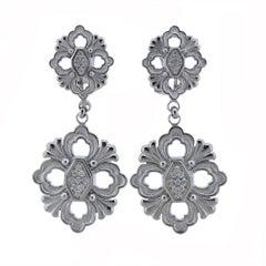 Buccellati Opera Diamond Gold Drop Earrings