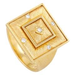 Buccellati Prestigio 18k Yellow Gold 0.08 Ct Diamond Ring