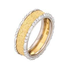 Buccellati Prestigio Band Vintage 18k Yellow Gold Ring 5 Estate Signed Jewelry