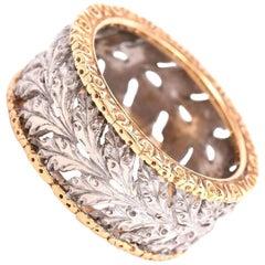Buccellati Ramage 18 Karat Gold Band Ring
