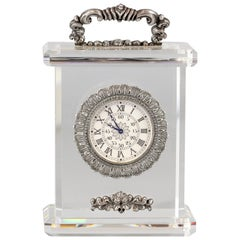 Buccellati Rock Crystal Sterling Silver Limited Edition Desk Clock