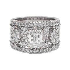 Buccellati Romanza GIA Certified Emerald Cut Diamond Ring