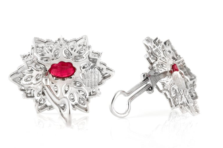 Buccellati Ruby Earrings In Excellent Condition For Sale In New York, NY