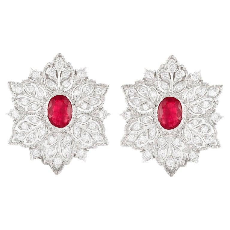 Buccellati Ruby Earrings For Sale