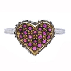 Buccellati Ruby Gold Heart Ring