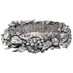 Buccellati Silver Fruit Basket Centerpiece