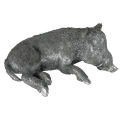 Buccellati Silver Furry Animals Boar