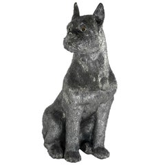 Buccellati Silver Furry Animals Boxer Dog