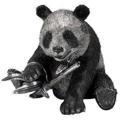 Buccellati Silver Furry Animals Panda