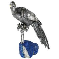 Buccellati Silver Furry Animals Parrot Lapis Lazuli